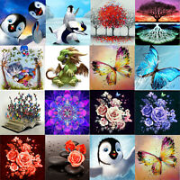 5D Full Drill Diamond Painting Animals Flower DIY Cross Stitch Kit Home Wall Art