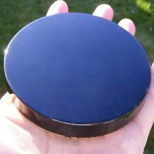 1pc 100mm Black Obsidian Scrying Mirror Crystal Gemstone Mineral Specimens US