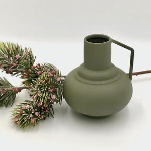 Bloomingville Green Metal Vase