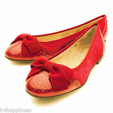 Designer Salvatore Ferragamo my pretty Flat Shoe Size 37 uk 4 classic RED