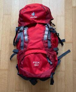 Trekkingrucksack für Kinder und Jugendliche, Deuter Fox 30, rot