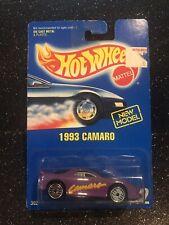 Hot Wheels~1992~Collector No. 202~Camaro 1993~New Model~Blue Card~See Notes