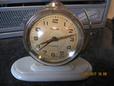 VINTAGE SPOUTNIK WORLD GLOBE SPACE CLOCK SLAVA 11 JEWELES USSR