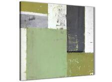 VERDE Grey Pittura Astratta Tela arte FOTO-Moderno Quadrato 79 cm - 1s337l
