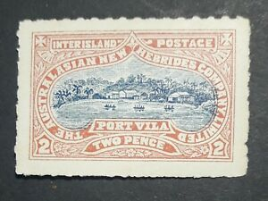 1897 MLH THE NEW HEBRIDES COMPANY PRIVATE INTER ISLAND POST.  2d ORIGINAL GUM.