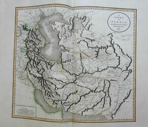 Persia Iran Iranian Plateau Caspian & Aral Seas Persian Gulf 1801 Cary folio map