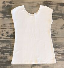 MODBOD Basic Women Tee Scoop Neck Cap Sleeve Top 90% Cotton 10% Spandex USA Made
