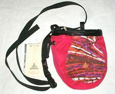Nwt womens Prana large chalk bag Paprika Swirl print climbing with belt New