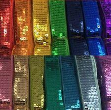 Pailletten band 5-reihig Pailletten Farbwahl 1-4 Meter Sequins lace
