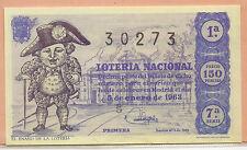 España Loteria Nacional del año 1963 edición facsimil (CO-243)