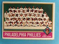 1976 Topps Baseball Card #384 Philadelphia Phillies Team Checklist