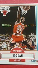 Michael J Jordan 26 Fleer 1990 Chicago Bulls Very Good card (HS)
