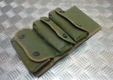 Genuine Vintage French Military Hand Grenade Triple Canvas Pouch - Un-issued