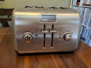 KitchenAid Digital Display 4-Slice Toaster stainless steel KMT422CU VGUC Works