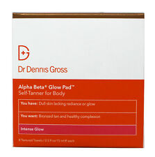 Dr Dennis Gross Alpha Beta Glow Pad Self-Tanner for Body Intense Glow 8 Towels