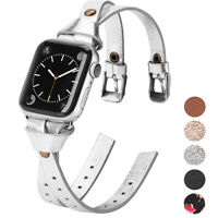 40/44mm Bracelet Leather Wrist Strap Band For Apple Watch Series 5 4 3 2 38/42mm