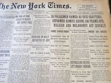 1930 NOVEMBER 27 NEW YORK TIMES - 28 POLICEMEN NAMED AS VICE GRAFTERS - NT 6336