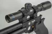 PAO 2x20 Pistol Scope Duplex 30-30 Reticle Long Eye Relief + 9-11mm Mount rings