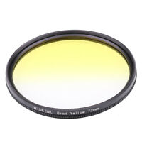 72mm Graduated Yellow Grad Color Lens Filter for Nikon Canon Sony Pentax Camera
