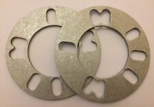 2 X 3mm SHIMS UNIVERSAL ALLOY WHEELS SPACERS FITS VOLKSWAGEN 4X100