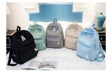 New Boho Velvet Corduroy Backpack Women Lady Travel School Office Bag Pure Color