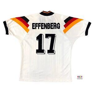 Germany 1992/94 International Home Soccer Jersey XL Stefan Effenberg Adidas