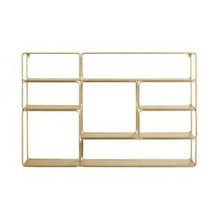 MAISONS DU MONDE  MADELINE Gold metal wall shelf