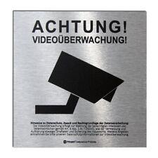 DSGVO+BDSG Datenschutz-Schild ACHTUNG VIDEOÜBERWACHUNG videoüberwacht ALU 10x10