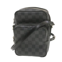 LOUIS VUITTON Damier Graphite Rem Shoulder Bag N41446 LV Auth 20236