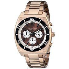 Caravelle New York Men's 45A110 Analog Display Japanese Quartz Rose Gold Watch
