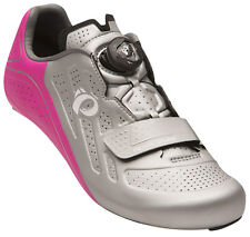 Pearl Izumi Women's Elite Road v5 Boa Carbon Cycling Road Shoes Silver/Pink 38
