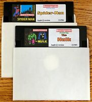 Spider Man / The Hulk / Works on all Apple II, IIe, IIc, & IIgs Computers