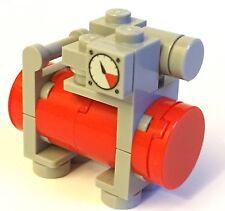 LEGO MOC COMPRESSORE D'ARIA POMPA per minifig GARAGE CITY Advanced MODULARE SERBATOIO CITY