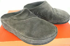 FitFlop Gogh Suede Clogs 113-077 Smoke Gray Comfort Moc Slides Shoes Women's 7