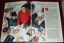 1959 TV ARTICLE~PAT BOONE MERCHANDISING~RECORD PLAYER~RADIO~CHARM BRACELET~SHOES