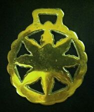 Vintage 8 POINT STAR OR SUN PATTERN  Horse Harness Brass England WOW YOUR WALLS!