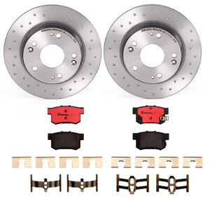 Brembo Rear Brake Kit Ceramic Pads Drilled Disc Rotors For Acura ILX Honda Civic