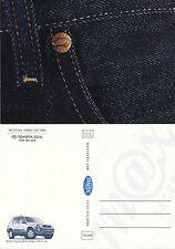 2001 TOYOTA RAV 4 ADVERTISING UNUSED COLOUR POSTCARD