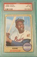 1968 Topps #110 Hank Aaron PSA 4 VG-EX UNDERGRADED?! Atlanta Braves
