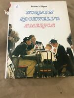 1976 Readers Digest Norman Rockwell's America Hardcover book  H5