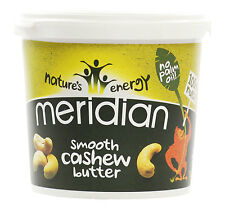 Meridian Smooth Cashew Butter 1kg *Vegan, No Palm Oil, 100% Nuts*