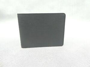 Genuine Louis Vuitton Slender Wallet For Men Epi Leather Black Used Condition