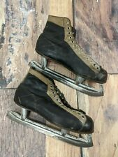 Canada Cycle and Motor Co. Ccm Nemo Vintage Two Tone Leather Ice Hockey Skates
