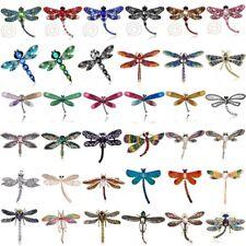 Women Crystal Pearl Animal Dragonfly Enamel Brooch Pin Custome Jewellery Party
