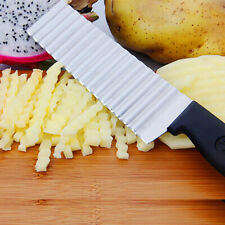 Wave Knife Chopper Potato French Fry Cutter vegetable Fruits slicer Blade Kichan