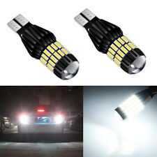 2x 921 T15 34-SMD 6000K White Backup Reverse LED Car Light Bulbs Projector Lens