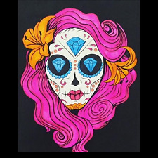 Coloring Book Sugar Skull Los Muertos Day Of Dead Anti Stress Relaxing For Adult