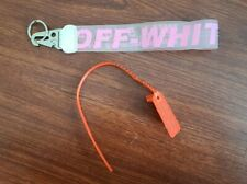 New - Off-White Industrial Clear Keychain Lanyard Pink
