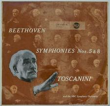 "BEETHOVEN SINFONIE Nos. 5 & 8 ARTURO TOSCANINI NBC SYMPHONY 12"" LP (c976)"