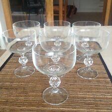 Vintage Crystal Champagne Glasses X 7